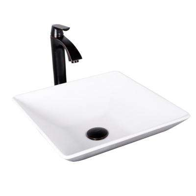 hibiscus matte stone vessel sink and linus bathroom vessel faucet in antique rubbed bronze w