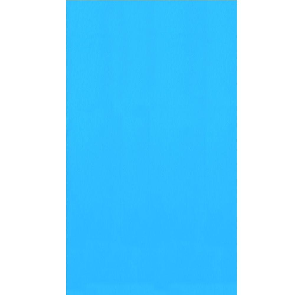 Blue 18 ft. x 33 ft. Oval Overlap Pool Liner 48/52