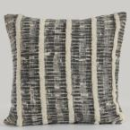 Lines and Stripes Black and Gray Striped Hypoallergenic Polyester 18 in. x 18 in. Throw Pillow