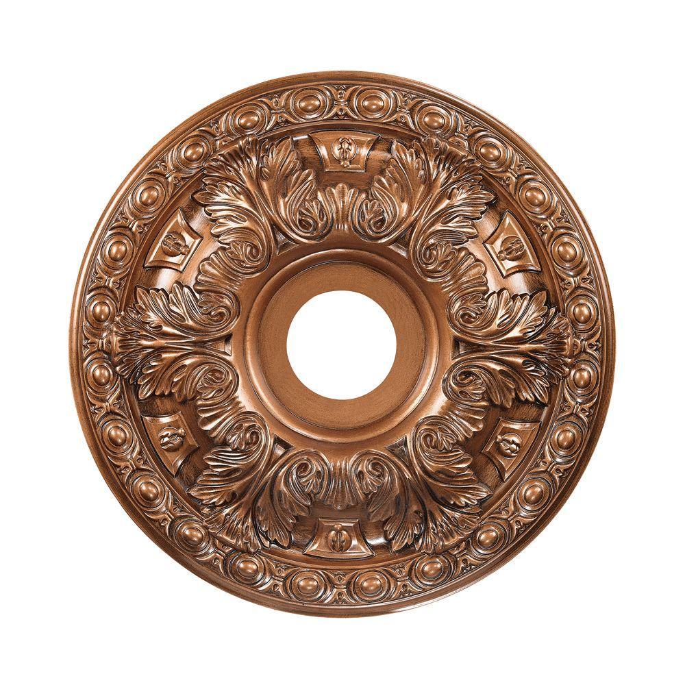 Titan Lighting 18 in. Antique Bronze Ceiling Medallion
