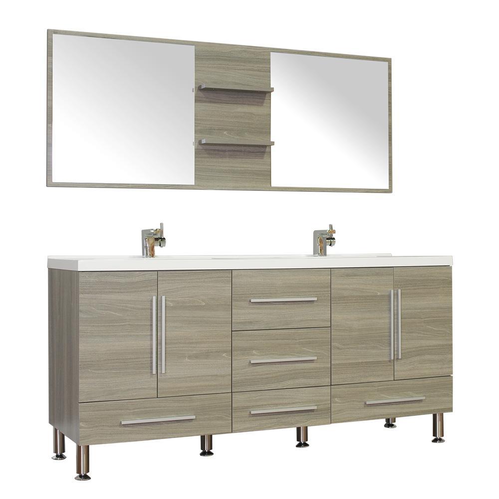 36 Inch Vanities Gray Double Sink Vanities With Tops