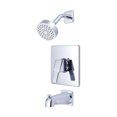 i3 1-Handle Wall Mount Tub and Shower Trim Kit in Polished Chrome (Valve Not Included)