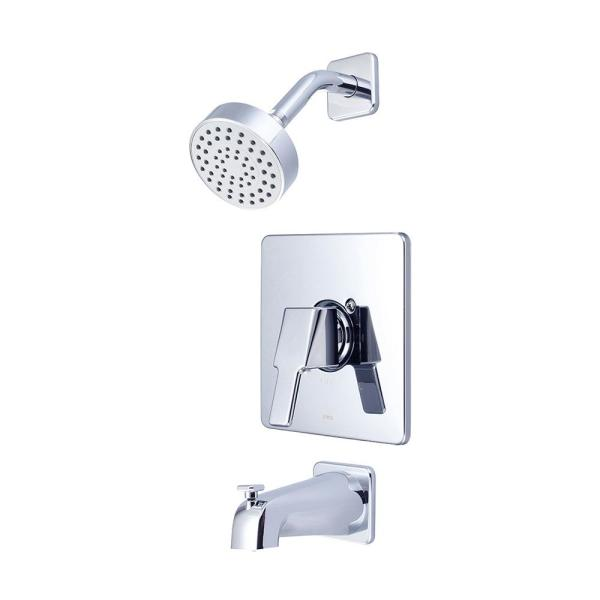 i3 1-Handle Wall Mount Tub and Shower Faucet Trim Kit in Polished Chrome (Valve not Included)