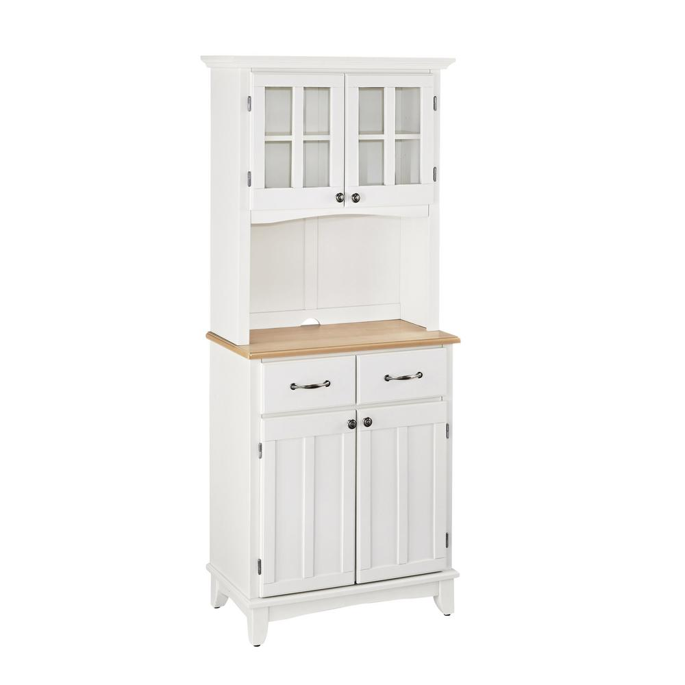 White Kitchen Hutch Buffet: Home Styles White Buffet With Hutch-5001-0021-12