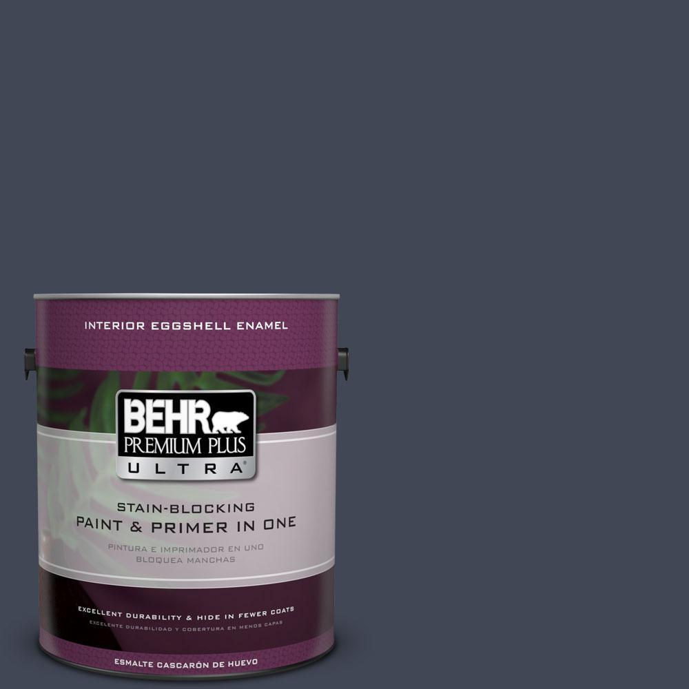 BEHR Premium Plus Ultra 1-Gal. #PPU14-20 Starless Night Eggshell Enamel Interior Paint