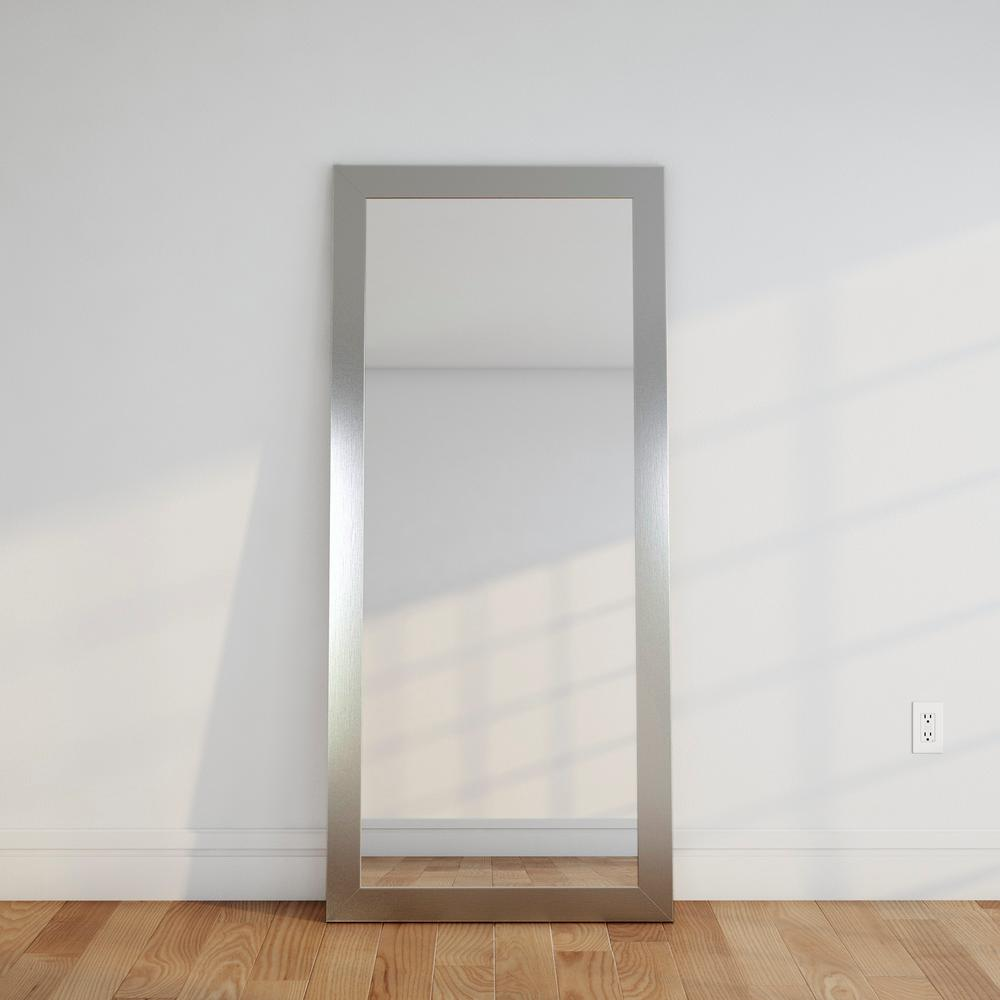 Premium Silver 32 in. x 71 in. Floor Mirror-BM001T-1 - The Home Depot
