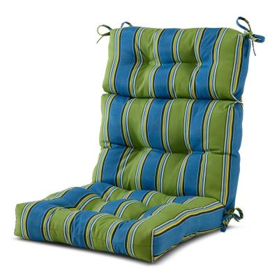 22 in. x 44 in. Outdoor High Back Dining Chair Cushion in Cayman Stripe
