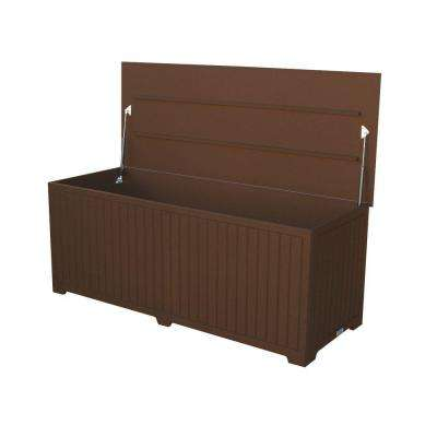 Sydney 110 Gal. Extra Large Brown Recycled Plastic Commercial Grade Big Deck Box