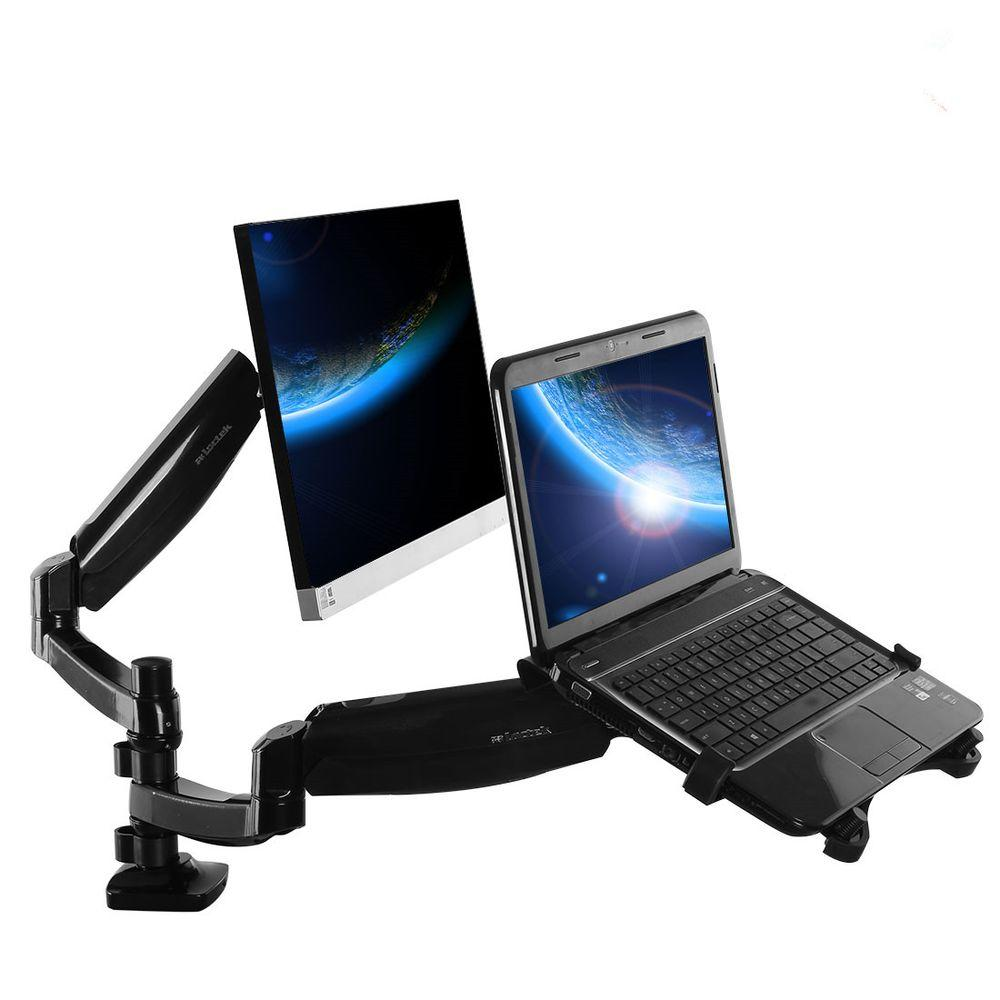 Loctek Deluxe Full Motion Gas Spring Dual Arm Desk Mounts for 10