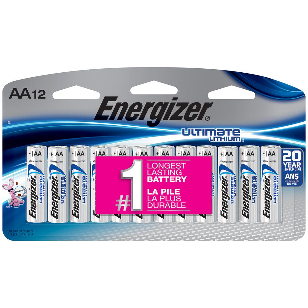 Energizer Aa Lithium Battery 12 Pack L91sbp 12 The Home Depot