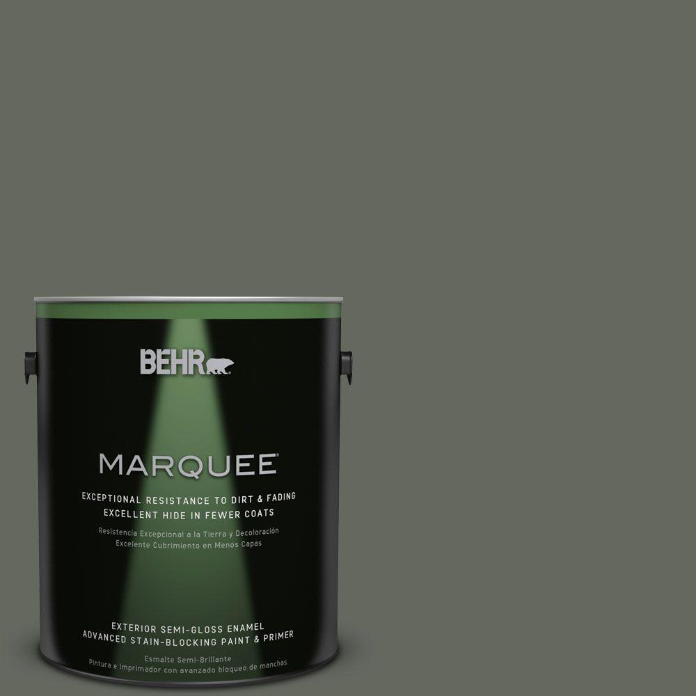 1-gal. #ECC-41-3 Laurel Oak Semi-Gloss Enamel Exterior Paint