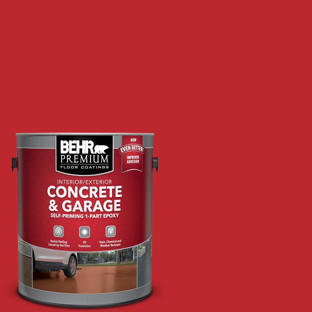 1 gal. #P150-7 Flirt Alert Self-Priming 1-Part Epoxy Satin Interior/Exterior Concrete and Garage Floor Paint