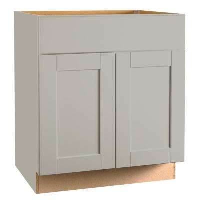 Shaker Assembled 24 x 34.5 x 21 in. Bathroom Vanity Base Cabinet in Dove Gray