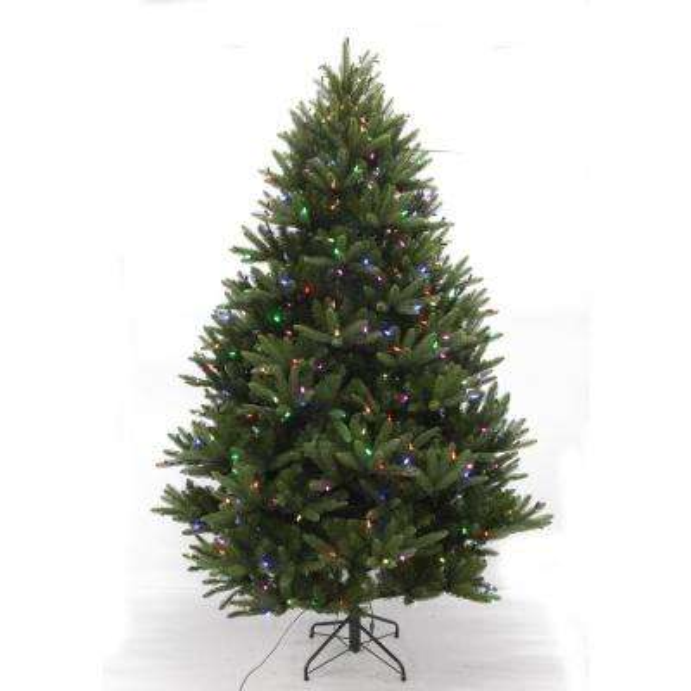 7.5 ft. Pre-Lit LED WRGB Douglas Fir Artificial Christmas Tree