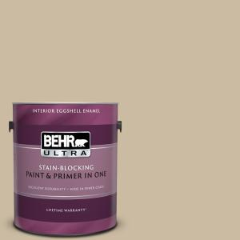 Behr Ultra 1 Gal 710c 3 Gobi Desert Eggshell Enamel Interior Paint And Primer In One 275401 The Home Depot