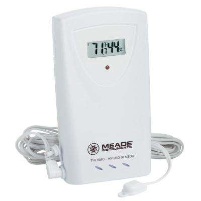 Wireless Remote Temperature and Humidity 3-Channel Sensor with LCD Display and Wired Temperature Probe