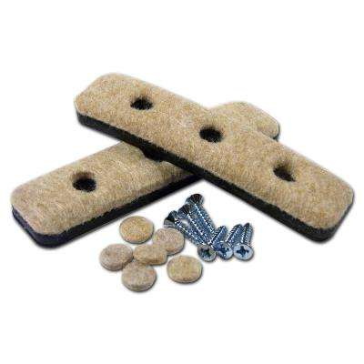31/32 in. x 4-1/32 in. Screw-on Felt Pads (4-Pack)