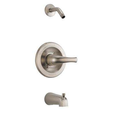 Tunbridge 1-Handle Wall-Mount Tub and Shower Faucet Trim Kit in Brushed Nickel (Valve and Showerhead Not Included)