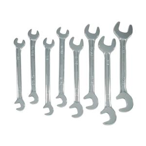 Zenith 7/32 inch - 7/16 inch Mini Double Open End Wrench Set SAE (8-Piece) by Zenith