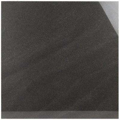 Standard Stone Black 24 in. x 24 in. x 9.5mm Polished Porcelain Floor and Wall Tile (4 pieces / 15.49 sq. ft. / box)