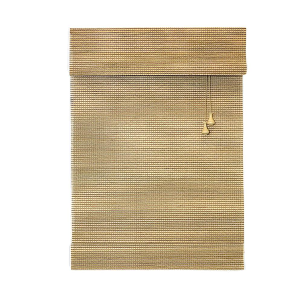 Home Decorators Collection Natural Multi-Weave Bamboo Roman Shade - 27 in. W x 48 in. L