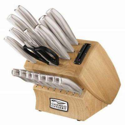 Insignia Steel 18-Piece Block Set with in Block Sharpener