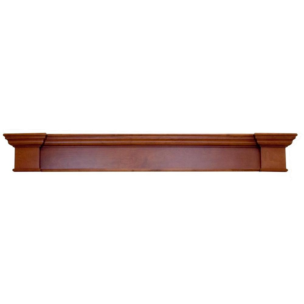 Elements Harbour 6 Ft Mahogany Cap Shelf Mantel M200 71sh Mh The Home Depot