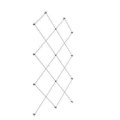 60 in. W x 96 in. H Diamond Pattern Wire Trellis
