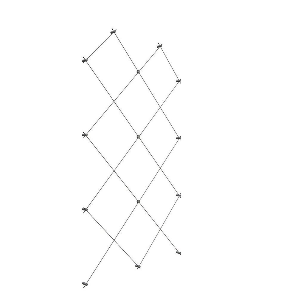 60 in. W x 96 in. H Diamond Pattern Wire Trellis