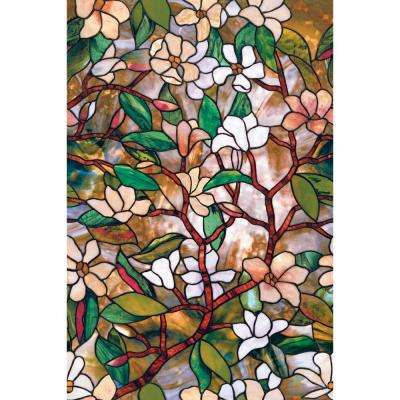 24 in. x 36 in. Magnolia Decorative Window Film