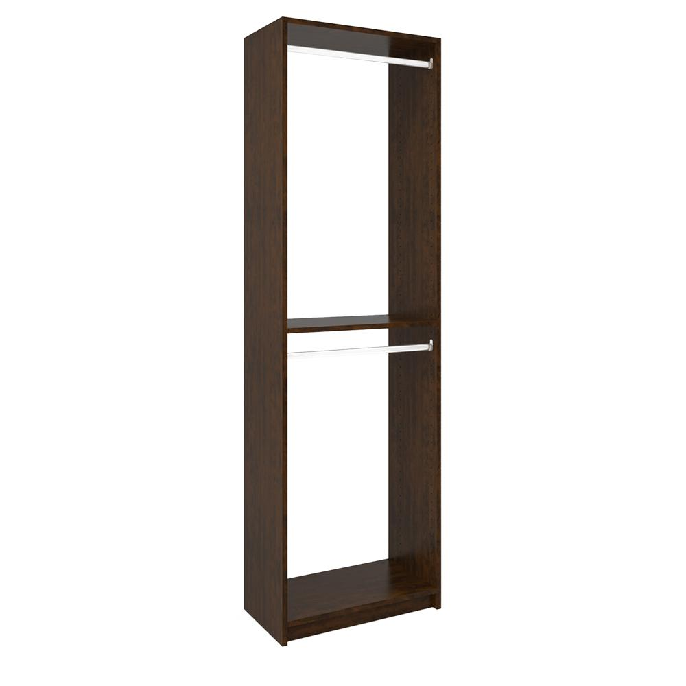 14 in. D x 24 in. W x 84 in. H Vanilla Bean Wood Double H...