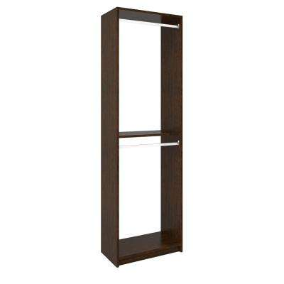 14 in. D x 24 in. W x 84 in. H Vanilla Bean Wood Double Hanging Closet System