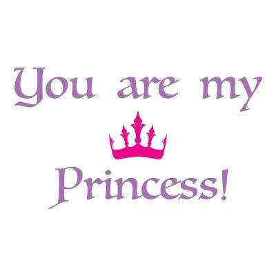 26.4 in. x 18.5 in. Princess Wall Decal