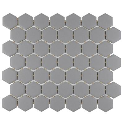 Restore Matte Dove Gray Hexagon 10 in. x 12 in. x 6.35 mm Glazed Ceramic Mosaic Floor and Wall Tile (0.81 sq. ft./piece)