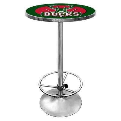 NBA Milwaukee Bucks Chrome Pub/Bar Table