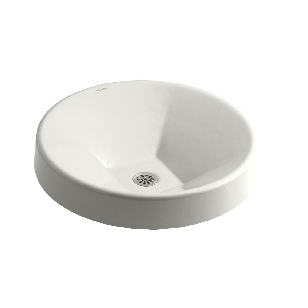 Inscribe Wading Pool Drop-In Cast Iron Bathroom Sink in White