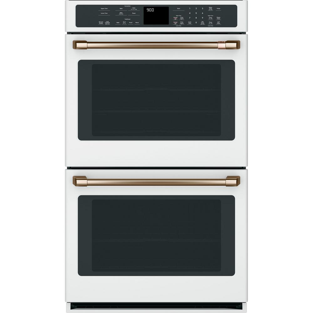 30 in. Double Electric Wall Oven with Convection Self-Clean in White