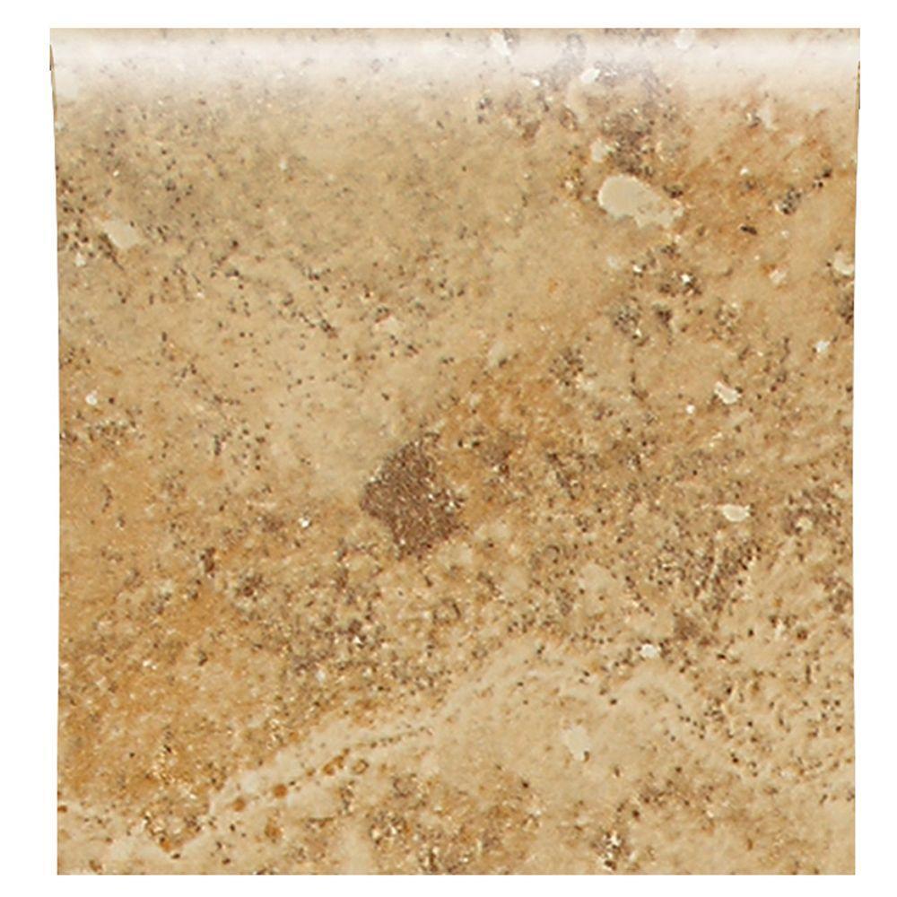 Daltile Heathland Amber 4-1/4 in. x 4-1/4 in. Glazed Ceramic Bullnose Wall Tile