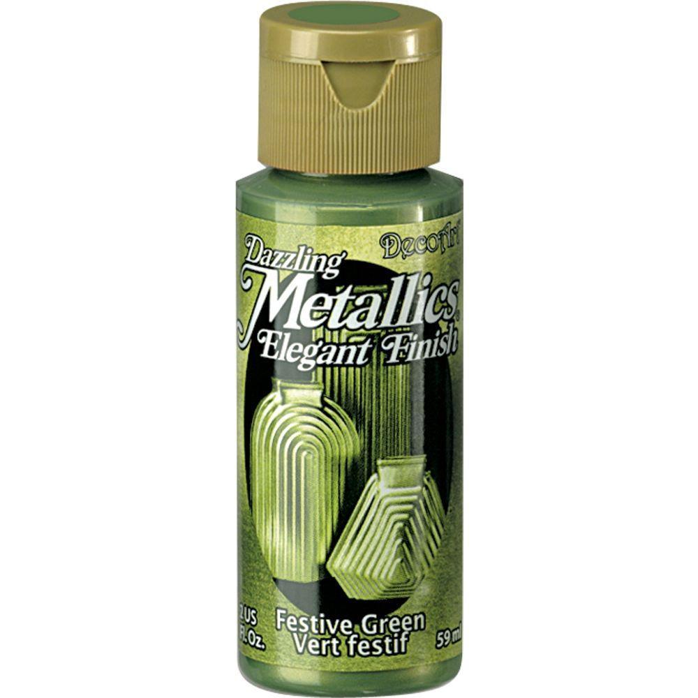 Dazzling Metallics 2 oz. Festive Green Acrylic Paint