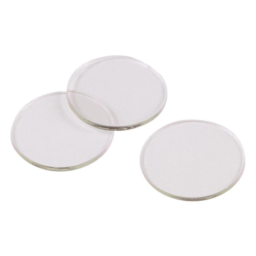Clear Vinyl Non Adhesive Discs For Glass Surfaces (