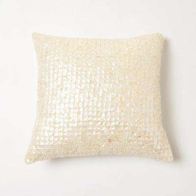 Mother of Pearl Ivory Pillow