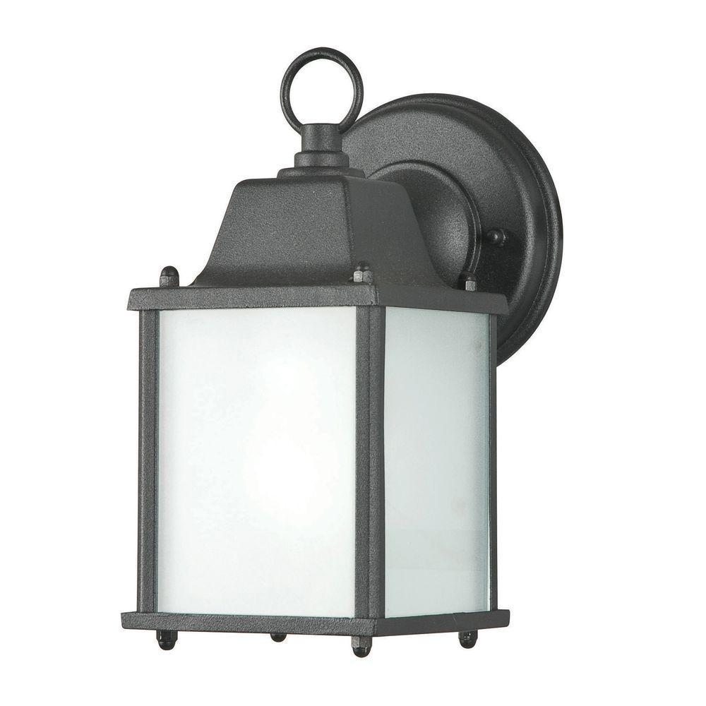 1-Light Black Outdoor Lantern