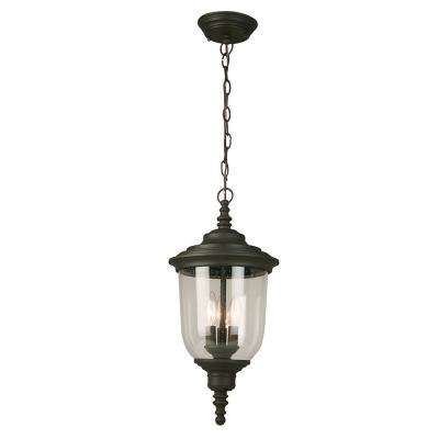 Pinedale Matte Bronze 3-Light Hanging Light