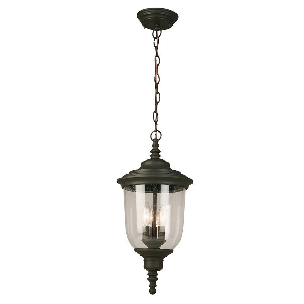 Pinedale Matte Bronze 3-Light Hanging Light