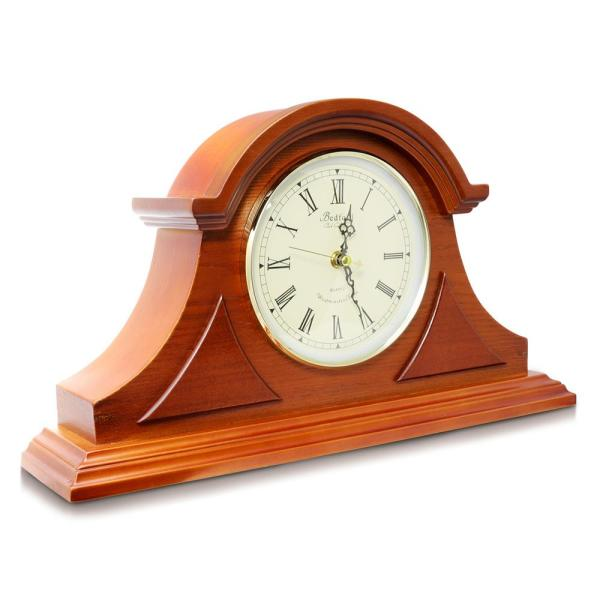 Bedford Clock Collection Mahogany Cherry Mantel Clock with Chimes 98593900M