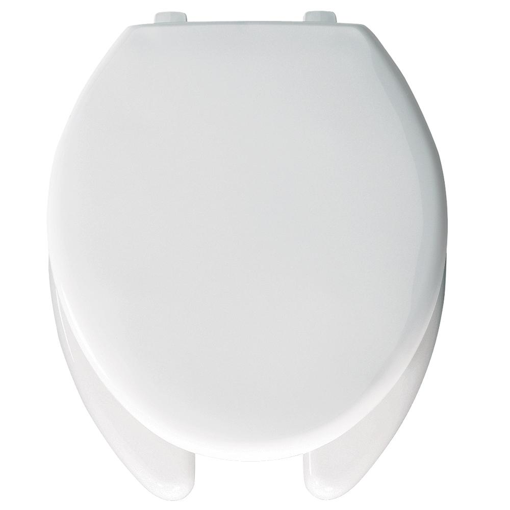 Fantastic Bemis Elongated Open Front Toilet Seat In White Creativecarmelina Interior Chair Design Creativecarmelinacom