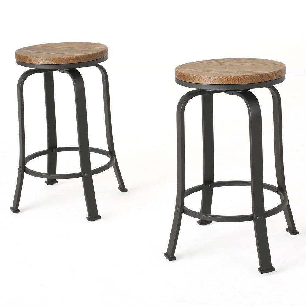 Peachy Noble House Skyla 24 00 In Natural Wood Rotating Counter Uwap Interior Chair Design Uwaporg