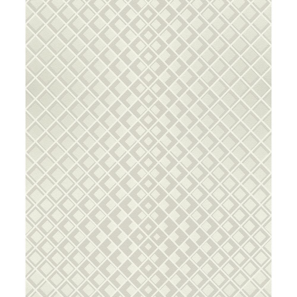 8 in. x 10 in. Perriand Cream Geometric Wallpaper Sample