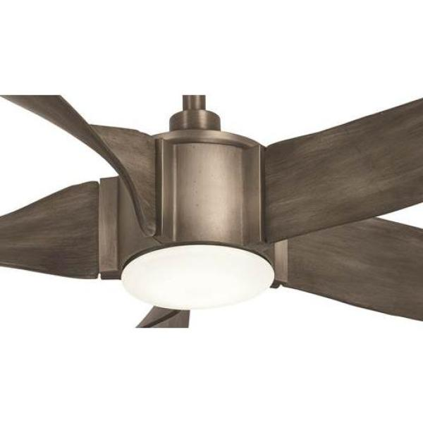 Aire A Minka Group Design Sky Parlor 56 In Integrated Led Indoor Burnished Nickel Ceiling Fan With Light 04613 The Home Depot