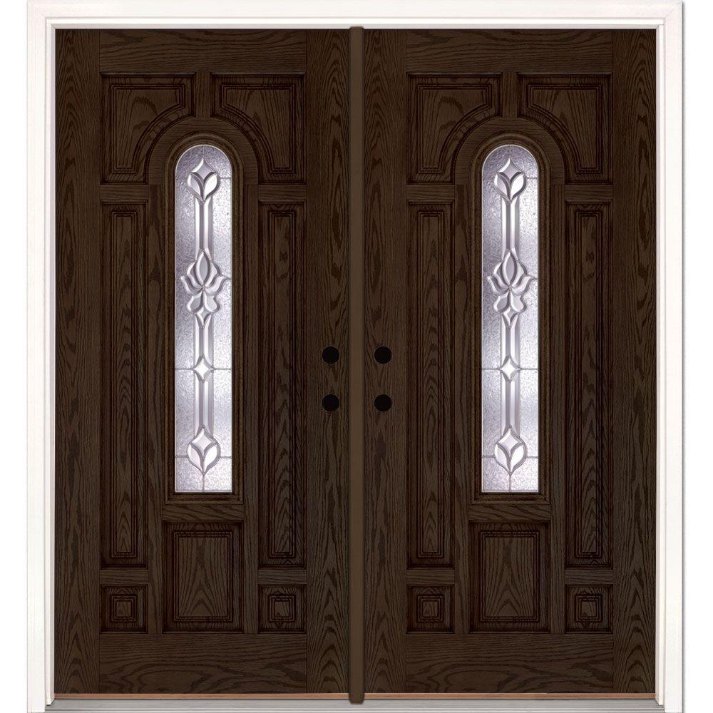 Customer Reviews & Feather River Doors 74 in. x 81.625 in. Medina Zinc Center Arch Lite ...